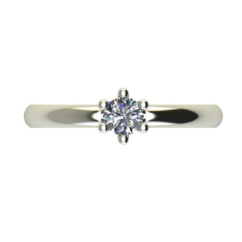 Годежен Пръстен бяло злато с диамант Impulse 0,25 ct. 2592 a