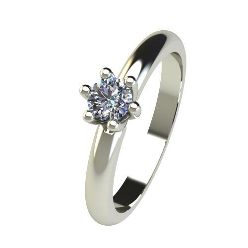 Годежен Пръстен бяло злато с диамант Impulse 0,25 ct. 2592