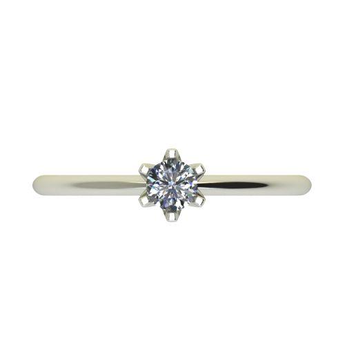 Годежен Пръстен бяло злато с диамант Nova 0,17 ct. 2597 a