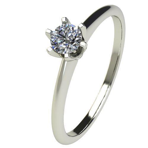 Годежен Пръстен бяло злато с диамант Nova 0,17 ct. 2597