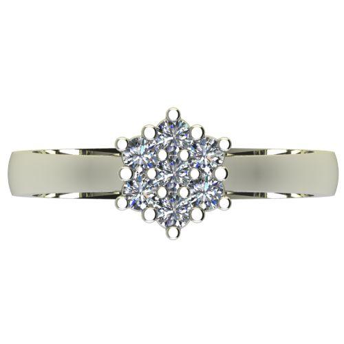 Годежен Пръстен бяло злато с диамант Snowy 0,21 ct. 2593 a