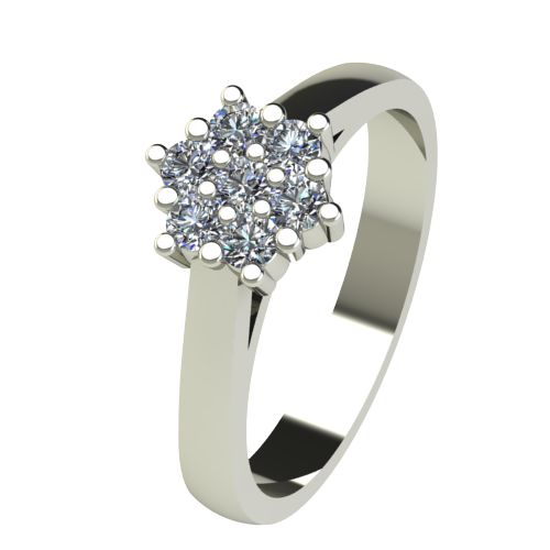 Годежен Пръстен бяло злато с диамант Snowy 0,21 ct. 2593