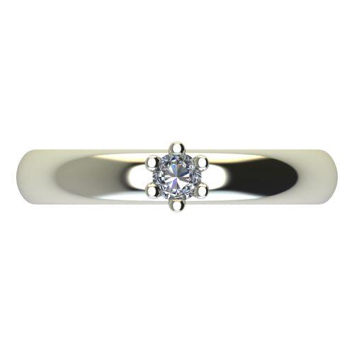 Годежен Пръстен бяло злато с диамант Piece 0,04 ct. 2618 a
