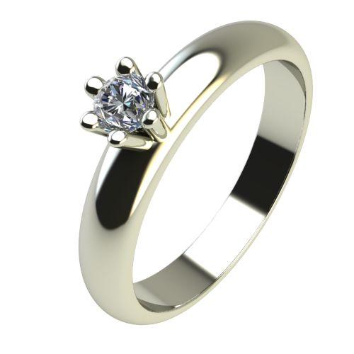 Годежен Пръстен бяло злато с диамант Piece 0,04 ct. 2618