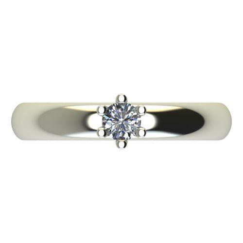Годежен Пръстен бяло злато с диамант Piece 0,07 ct. 2619 a