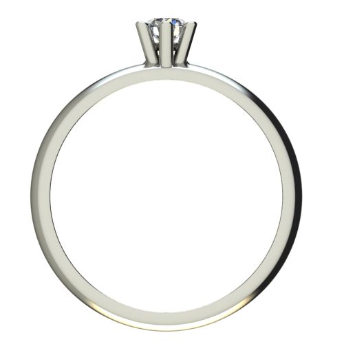 Годежен Пръстен бяло злато с диамант Piece 0,07 ct. 2619 b