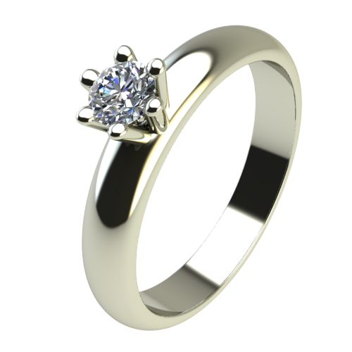Годежен Пръстен бяло злато с диамант Piece 0,07 ct. 2619
