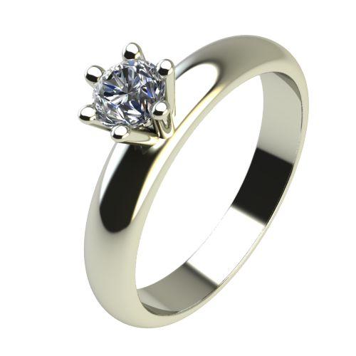 Годежен Пръстен бяло злато с диамант Piece 0,12 ct. 2620