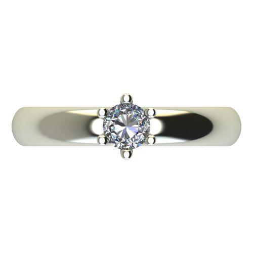 Годежен Пръстен бяло злато с диамант Piece 0,17 ct. 2621 a