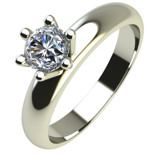 Годежен Пръстен бяло злато с диамант Piece 0,17 ct. 2621