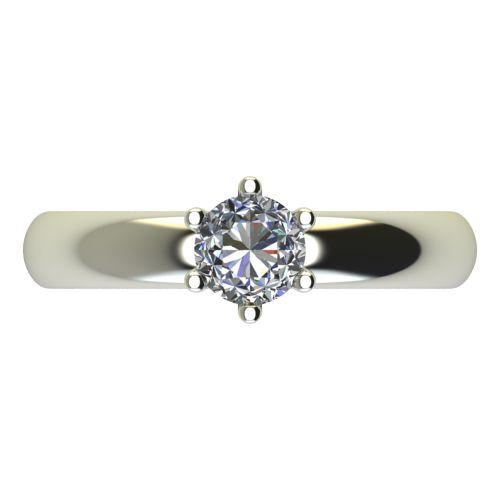 Годежен Пръстен бяло злато с диамант Piece 0,25 ct. 2622 a