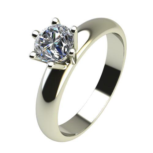 Годежен Пръстен бяло злато с диамант Piece 0,25 ct. 2622