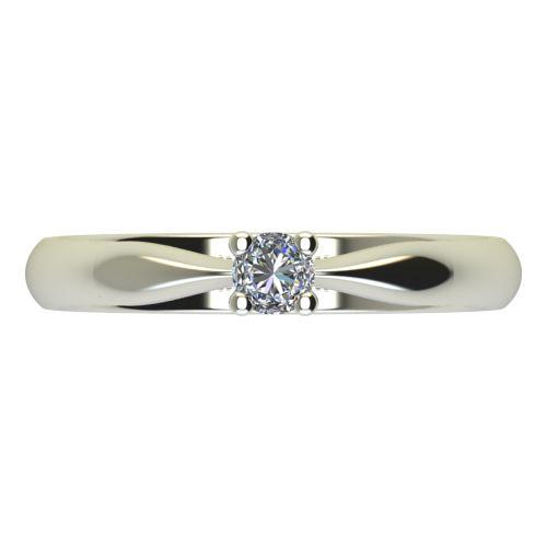 Годежен Пръстен бяло злато с диамант Thin 0,04 ct. 2613 a