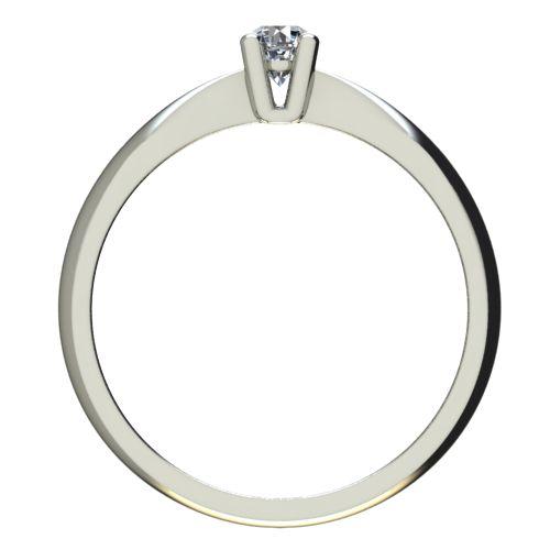 Годежен Пръстен бяло злато с диамант Thin 0,04 ct. 2613 b