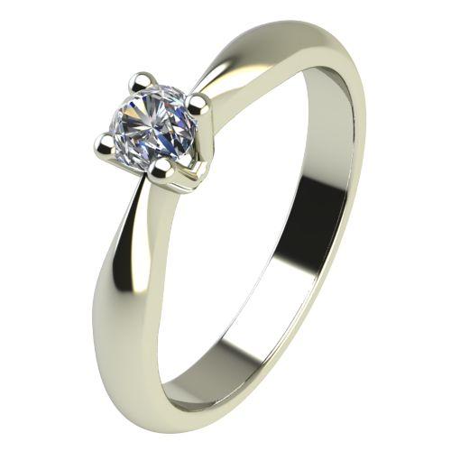Годежен Пръстен бяло злато с диамант Thin 0,04 ct. 2613