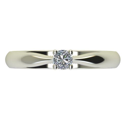 Годежен Пръстен бяло злато с диамант Thin 0,07 ct. 2614 a