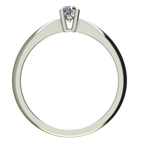 Годежен Пръстен бяло злато с диамант Thin 0,07 ct. 2614 b