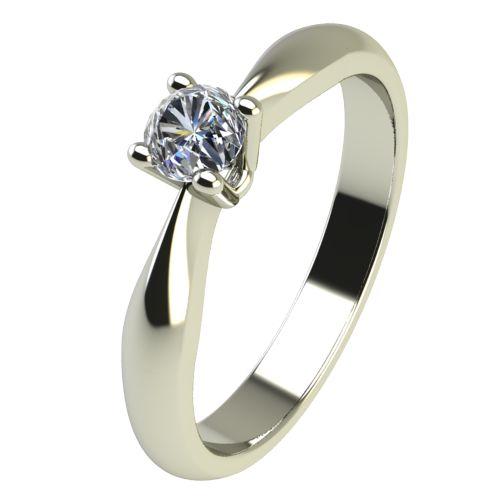 Годежен Пръстен бяло злато с диамант Thin 0,07 ct. 2614
