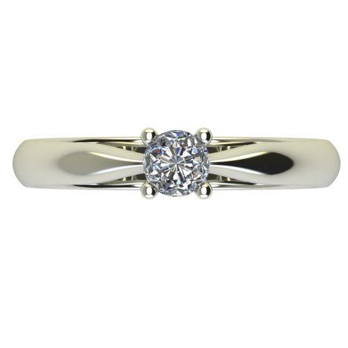 Годежен Пръстен бяло злато с диамант Thin 0,12 ct. 2615 a