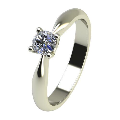 Годежен Пръстен бяло злато с диамант Thin 0,12 ct. 2615