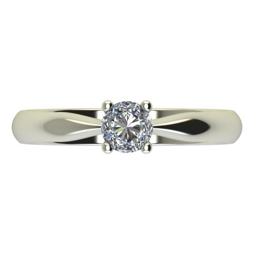 Годежен Пръстен бяло злато с диамант Thin 0,17 ct. 2616 a