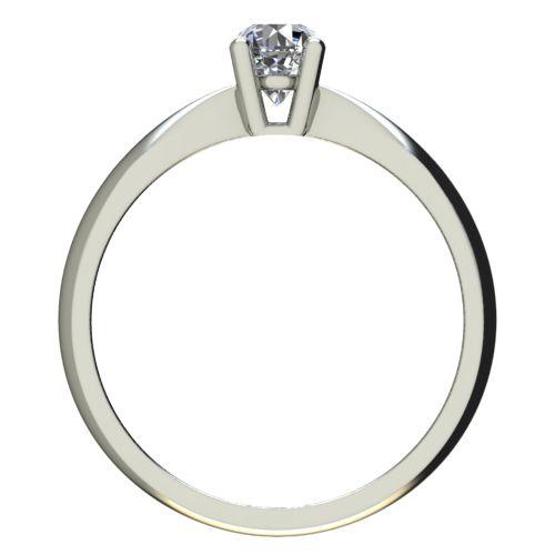 Годежен Пръстен бяло злато с диамант Thin 0,17 ct. 2616 b