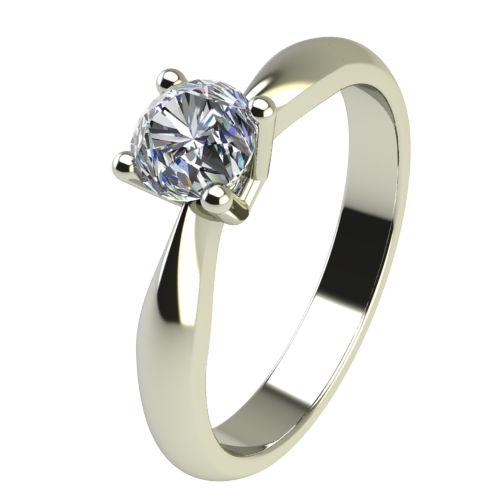 Годежен Пръстен бяло злато с диамант Thin 0,17 ct. 2616