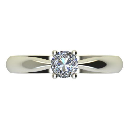 Годежен Пръстен бяло злато с диамант Thin 0,25 ct. 2617 a