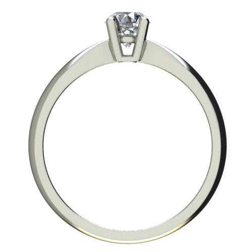 Годежен Пръстен бяло злато с диамант Thin 0,25 ct. 2617 b