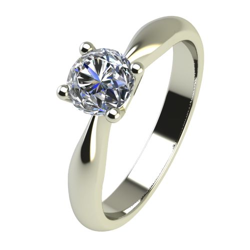Годежен Пръстен бяло злато с диамант Thin 0,25 ct. 2617