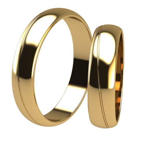 Брачни Халки жълто злато модел Chant кат.номер 7335