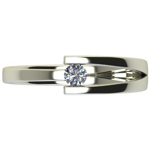 Годежен Пръстен бяло злато с диамант Close 0,12 ct. 2625 a
