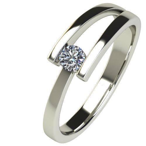 Годежен Пръстен бяло злато с диамант Close 0,12 ct. 2625