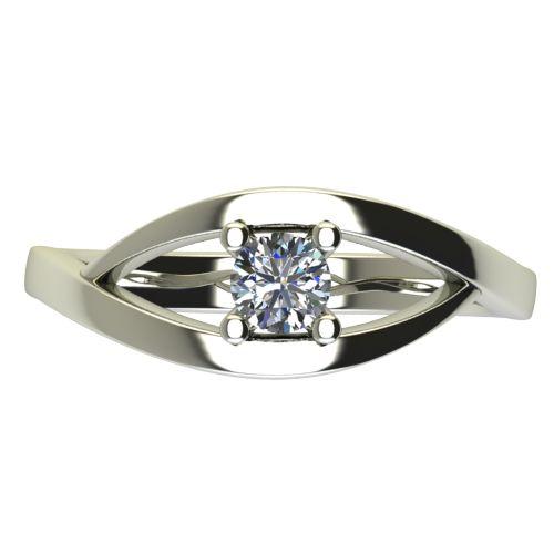 Годежен Пръстен бяло злато с диамант Eyes 0,36 ct. 2626 a