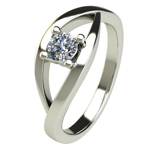Годежен Пръстен бяло злато с диамант Eyes 0,36 ct. 2626
