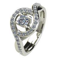 Годежен Пръстен бяло злато с диамант Forth 0,57 ct. 2624