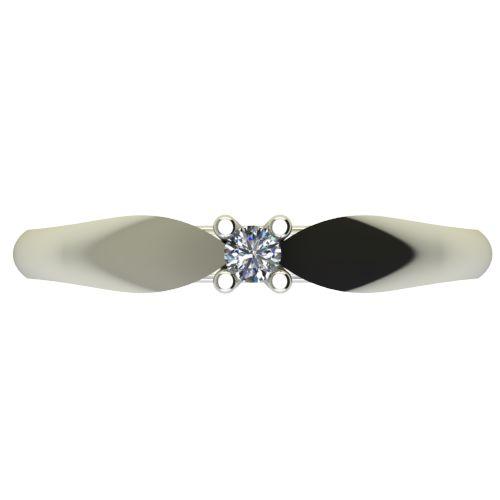 Годежен Пръстен бяло злато с диамант Thin 0,04 ct. 2627 a
