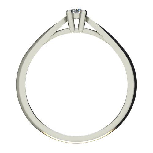 Годежен Пръстен бяло злато с диамант Thin 0,07 ct. 2628 b