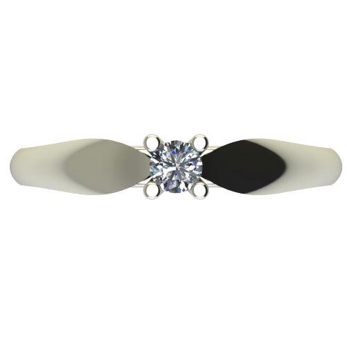 Годежен Пръстен бяло злато с диамант Thin 0,12 ct. 2629 a