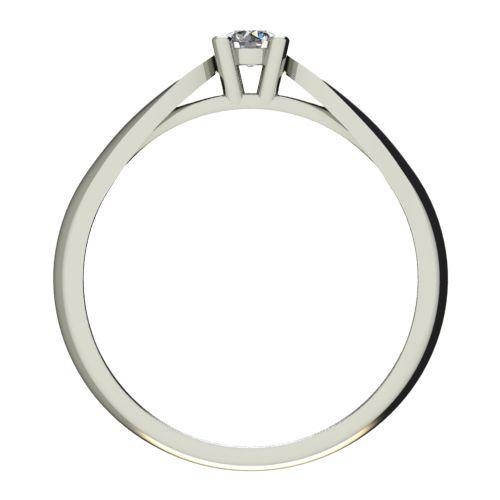 Годежен Пръстен бяло злато с диамант Thin 0,12 ct. 2629 b