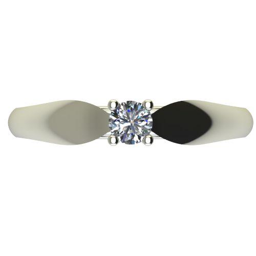 Годежен Пръстен бяло злато с диамант Thin 0,17 ct. 2630 a
