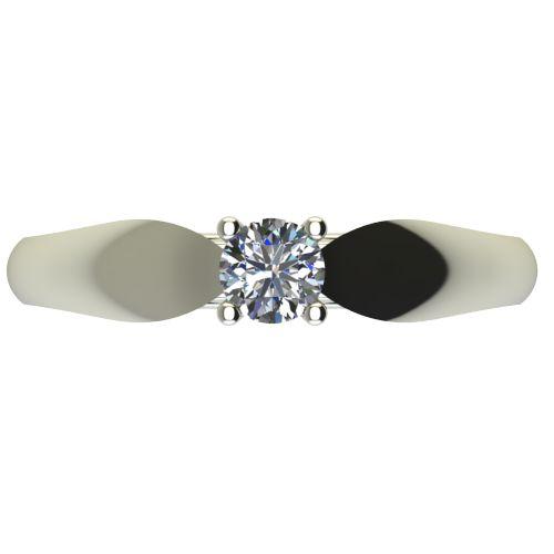 Годежен Пръстен бяло злато с диамант Thin 0,25 ct. 2631 a