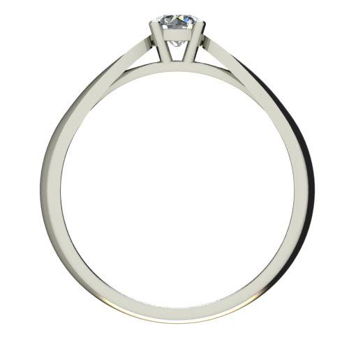 Годежен Пръстен бяло злато с диамант Thin 0,25 ct. 2631 b