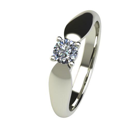 Годежен Пръстен бяло злато с диамант Thin 0,25 ct. 2631