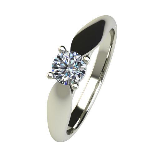 Годежен Пръстен бяло злато с диамант Thin 0,36 ct. 2632