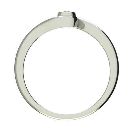 Годежен Пръстен бяло злато с диамант Accent 0,04 ct. 2644 b