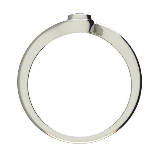Годежен Пръстен бяло злато с диамант Accent 0,07 ct. 2645 b