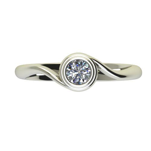 Годежен Пръстен бяло злато с диамант Accent 0,25 ct. 2648 a