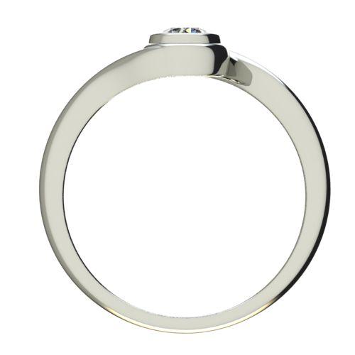 Годежен Пръстен бяло злато с диамант Accent 0,25 ct. 2648 b