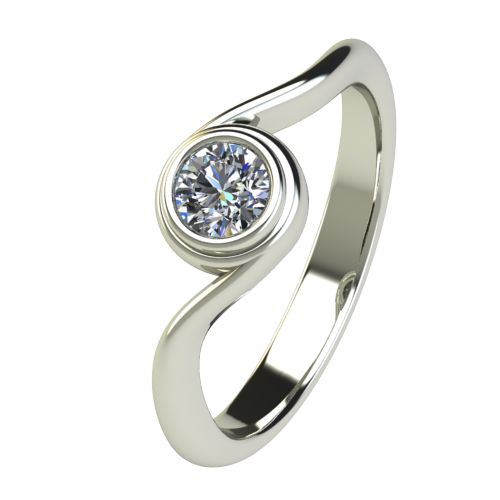 Годежен Пръстен бяло злато с диамант Accent 0,25 ct. 2648